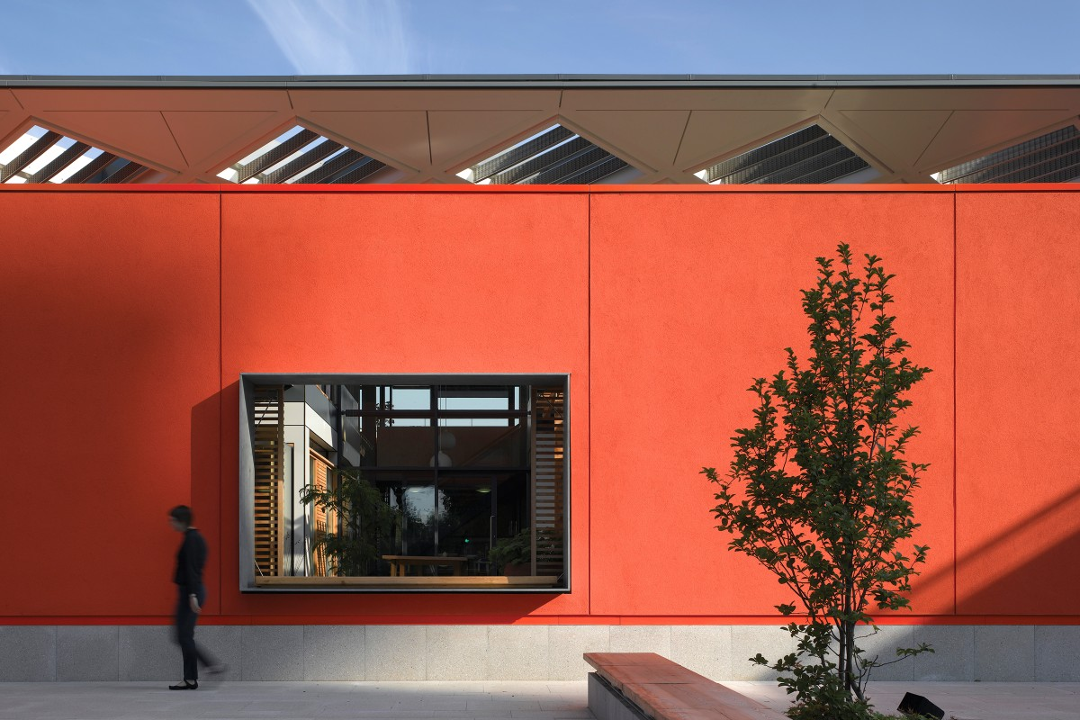 Inspirational facades, seamless acoustic surfaces and floor coatings