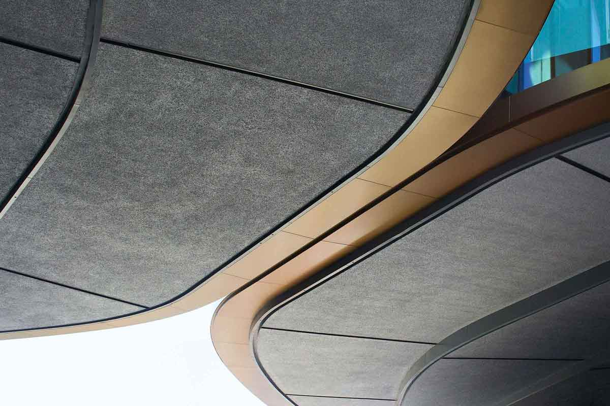 Inspirational facades, seamless acoustic surfaces and floor